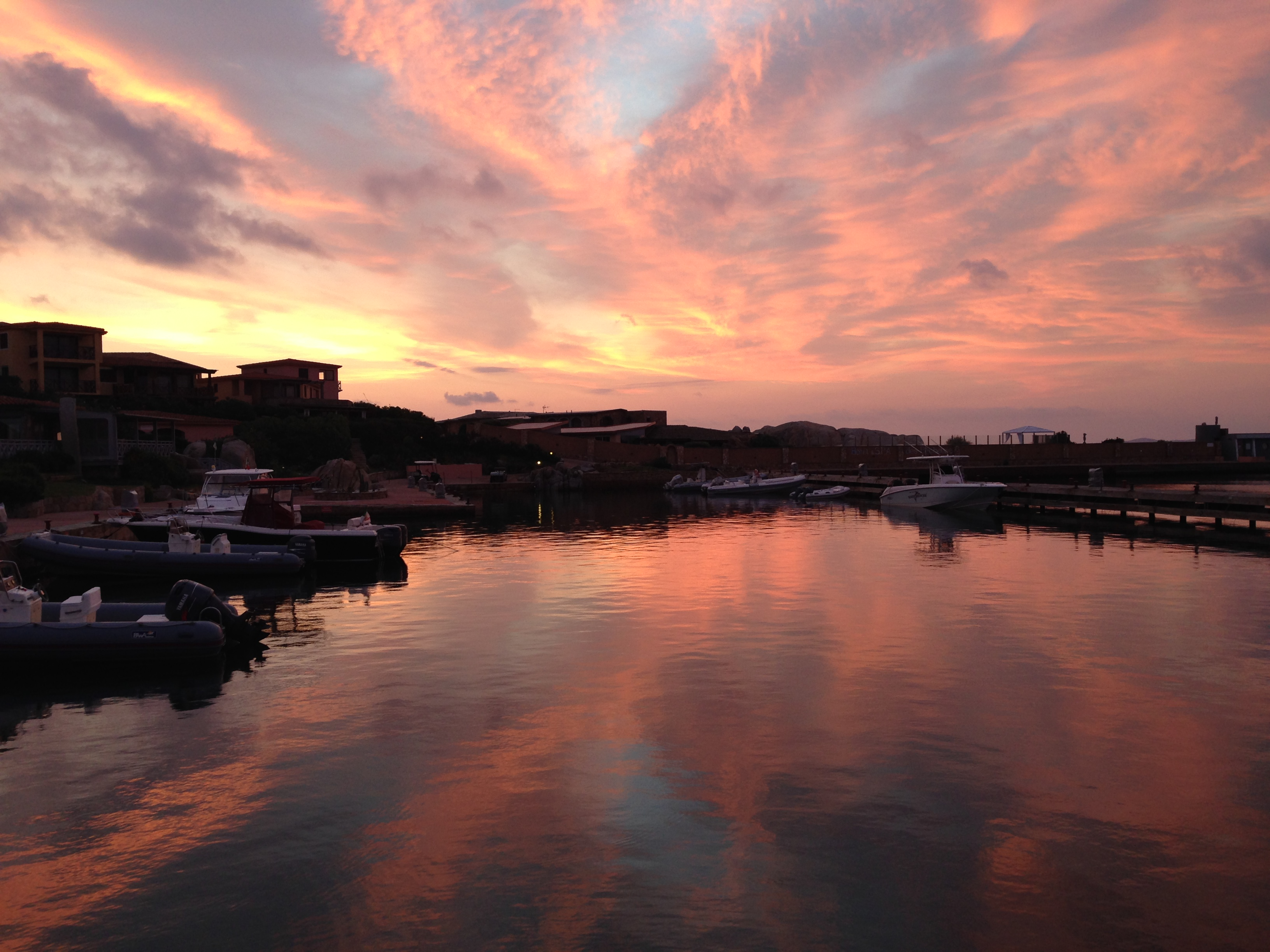 Sunrise at the Harbour of Cavallo Island